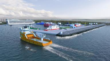 Aberdeen harbour: Extension will include new facilities cruise ships and North Sea decommissioning.