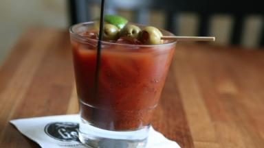 A Bloody Mary cocktail