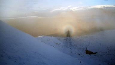 Halo of light: Brocken spectre on Fionn Bheinn, north west Highlands.
