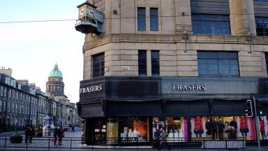 The House of Fraser store in Edinburgh.