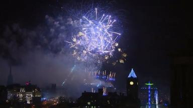 Hogmanay celebrations get underway in Edinburgh.