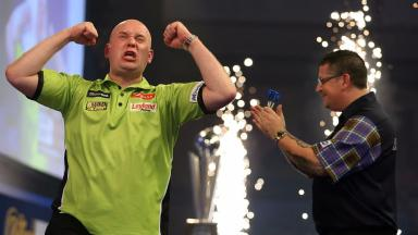 Champion: Michael van Gerwen claimed the title.