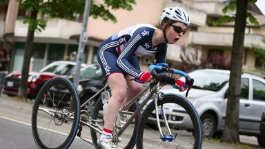 Hannah Dines: Paralympian's car and trike targeted while she is in California.