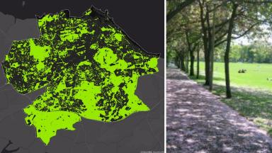 Satellite: Edinburgh's green spaces, including the Meadows, are mapped out in new images.