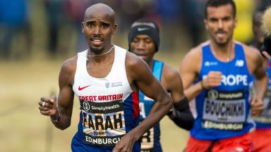 Disappointment: Mo Farah finished a lowly seventh.