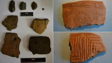 Neolithic: Relics found between Guardbridge and North Haugh.