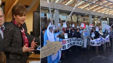 The First Minister on ship-to-ship oil transfers protest