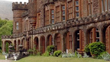 KInloch Castle: The 19th century building is under threat.