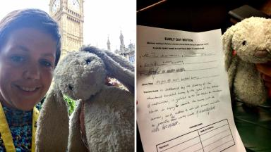 Lost: Kirsty Blackman started a social media search to find the toy's owner.