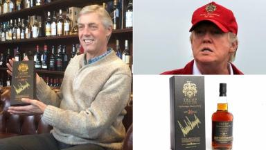 Canadian pilot swoops in to buy £6000 rare Donald Trump whisky