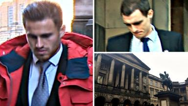 Composite of David Goodwillie, David Robertson and Court of Session after rape ruling