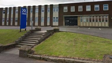 Package: Levenmouth Police Station was sealed off (file pic).