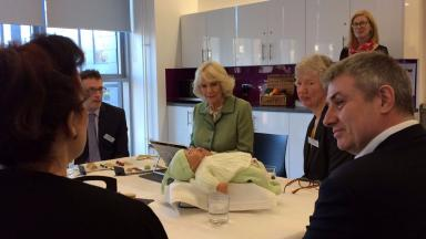 Chancellor: The Duchess of Cornwall and Rothesay enjoyed a tour of the building.
