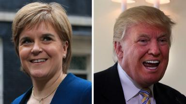 Nicola Sturgeon Donald Trump