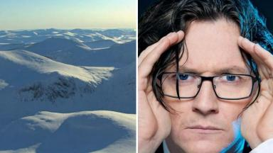 Assistance: Ed Byrne had been Munro-bagging when he came to the climber's aid.