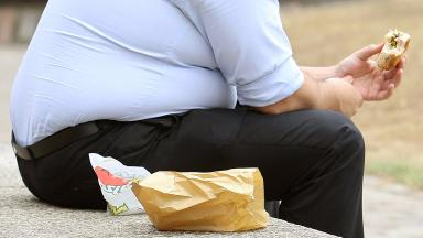 Obesity: About a third of Scottish adults were obese in 2015 (file pic).