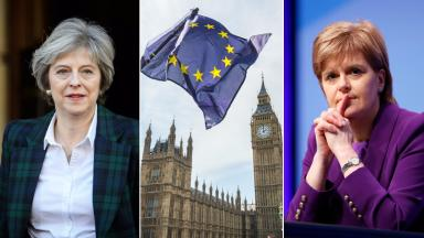 Theresa May Nicola Sturgeon Brexit EU