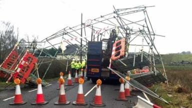 Closure: Lorry collides with bridge on A81.