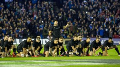 Test: The All Blacks at Murrayfield in 2014.