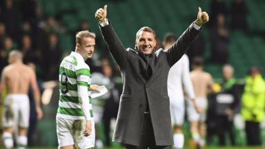 Brendan Rodgers: Celtic boss saw his side match club record.