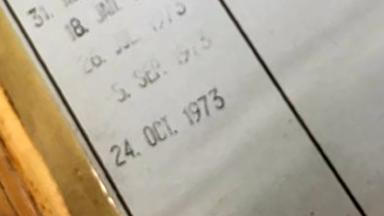 Overdue: Book was meant to be returned in 1973.