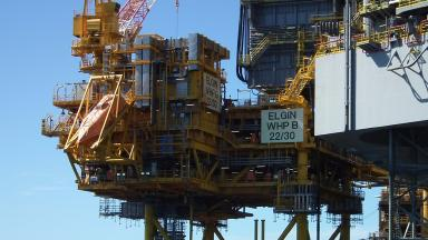 Elgin B: North Sea platform is 140 miles off Aberdeen (file pic).