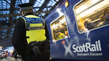 Train: Police hunting suspects involved in 'altercation'.