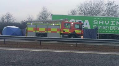 Crash scene: The collision happened on Wednesday morning.