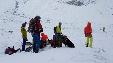 Ben Nevis: Three injured climbers rescued from avalanche.
