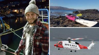 Missing Aberdeenshire kayaker composite Dominic Jackson, last seen near Portsoy Harbour