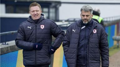 Exit: Gary Locke (left) and assistant manager Darren Jackson have left the club with immediate effect.