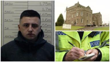 James John Boyle absconder from HMP Castle Huntly. Police collect pic.