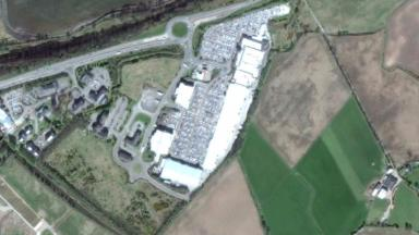 Site: The prison will be built to the rear of the retail park.
