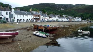 Ullapool: More than 17% of inhabitants are self-employed (file pic).