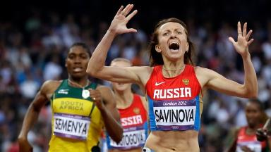 Mariya Savinova won gold at London 2012.