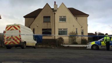 Cordon at Kilmaurs Road, Kilmarnock, after fatal fire murder on Feb 12 2017