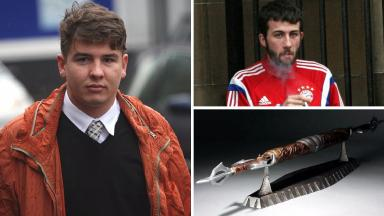 Calvin Bourke and Stuart Scott who attacked teenager with Alien v Predator spear in Denny