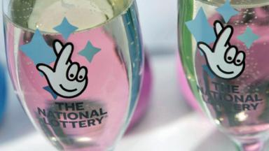 National Lottery glasses of champagne. Image from National Lottery