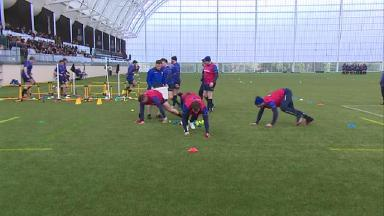 Watch Scotland stars become 'Hungry Hippos' in training