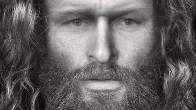 Crop of Rosemarkie Cave Pictish murder victim reconstructed by Dundee University
