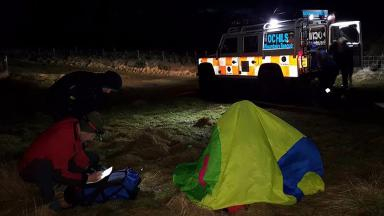 Lomond Hills: Brother and sister rescued after injury.