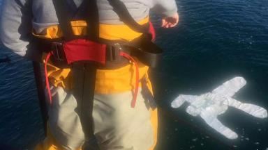 Callout: RNLI Peterhead discovered 'body' was paper suit.