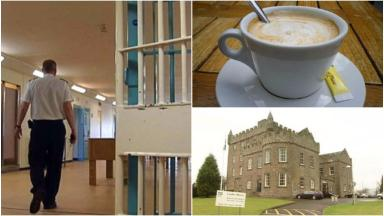 PicMonkey collage from prisoner barista training story at Castle Huntly.