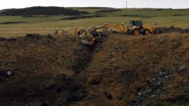 Horse rescue in Aberdeenshire in February 2017