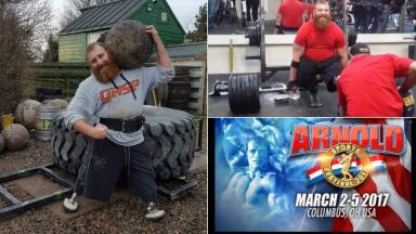 Stevie Richardson from Tranent British soldier severely injured in Afghanistan takes a leap into the world of competitive strongman uploaded Thursday February 23 2017