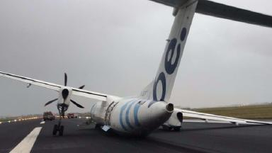 Flybe plane crashed off runway in Netherlands in February 2017