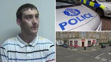 Composite of Liam McMeechan and A&A Newsagents on South Trinity Road in Edinburgh after assault on shopkeeper