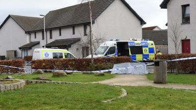 Dunnock Park, Perth. Police probe 'unexplained' death of a man. 25 February 2017