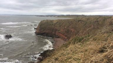 Arbroath Cliffs, site near where an 18-year-old fell into the water. February 26 2017