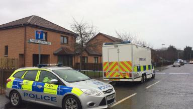 Drumlanrig Drive in Dundee, where two people were found dead. February 26 2017